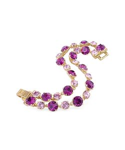 AZ Collection | Pink And Amethyst Plated Bracelet