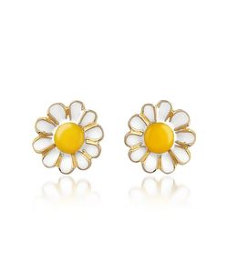 AZ Collection | Garden Line Daisy Enamel Earrings