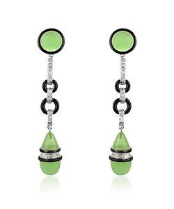 AZ Collection | Jade Drop Clip-On Earrings