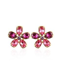 AZ Collection | Flower Gold Plated Clip-On Earrings