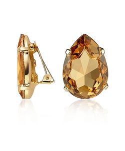 AZ Collection | Amber Tear-Drop Clip-On Earrings