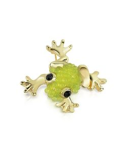 AZ Collection | Light Green Frog Brooch