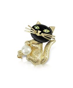 AZ Collection | Green-Eyed Cat Pin