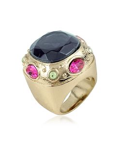 AZ Collection | Large Crystal Stone Ring