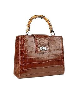 Buti | Croco-Embossed Leather Compact Tote Bag