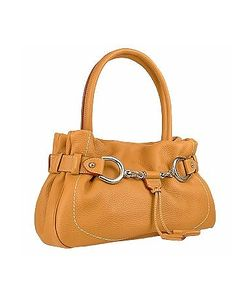 Buti | Horsebit Detail Italian Pebble Leather Satchel Bag