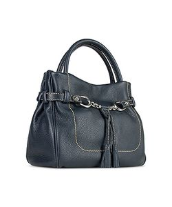 Buti | Italian Pebble Calf Leather Satchel Bag