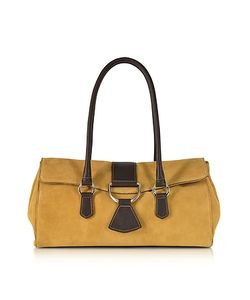 Buti | Suede And Leather Satchel Bag