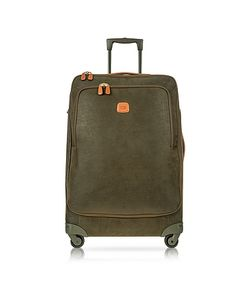 BRIC'S   Life Green Micro Suede Large Trolley