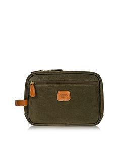BRIC'S | Life Green Micro Suede Travel Case