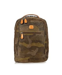 BRIC'S | Life Camouflage Military Micro Suede Backpack