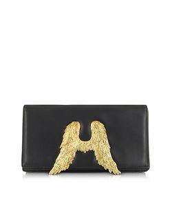 Bernard Delettrez   Nappa Leather Clutch W/Angel Wings