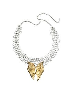 Bernard Delettrez | Chains With Bronze Wings Necklace