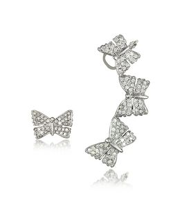 Bernard Delettrez | Butterflies Earrings W/Diamonds