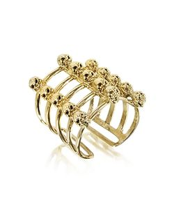 Bernard Delettrez | Cage And Skulls Bronze Ring