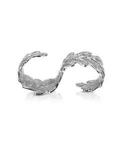 Bernard Delettrez   Two Fingers Leafy Ring