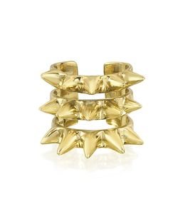 Bernard Delettrez | Triple Band Bronze Ring W/Spikes