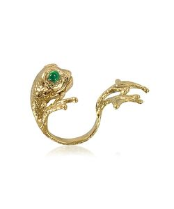 Bernard Delettrez | Bronze Frog Ring W/Big Paws