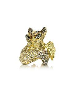 Bernard Delettrez   And Cognac Diamonds Fox Ring