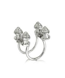 Bernard Delettrez   Four Studs With Diamonds Ring