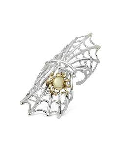 Bernard Delettrez   Spiderweb And Bronze Articulated Ring