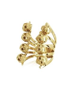 Bernard Delettrez   En Skulls Bronze Ring