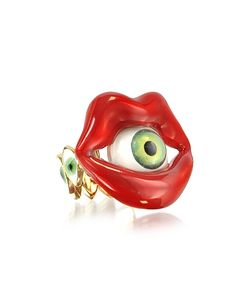 Bernard Delettrez | Bronze Mouth Ring With Eye