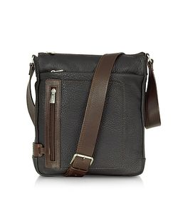 Chiarugi | And Brown Leather Vertical Messenger