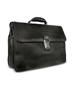 Chiarugi | Mens Genuine Leather Double Gusset Briefcase
