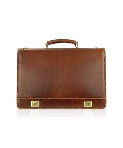 Chiarugi | Handmade Genuine Italian Leather Multi-Pocket Briefcase