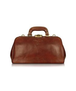 Chiarugi | Handmade Brown Genuine Leather Doctor Bag