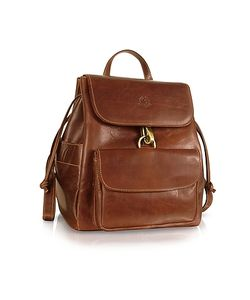 Chiarugi | Handmade Brown Genuine Leather Backpack