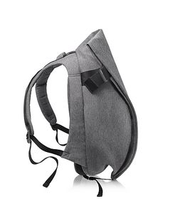 Côte&Ciel | Isar Black Melange Eco Yarn Medium Backpack
