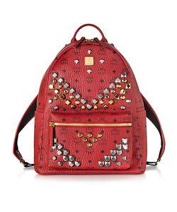 MCM   Stark Ruby Medium Backpack W/Studs