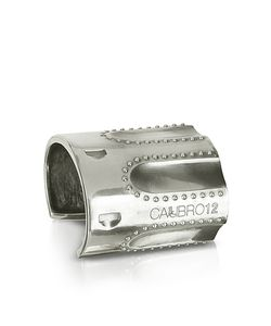 Calibro12 | Revolver Sterling Studded Cuff Bracelet W/Natural Ruby