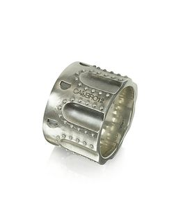 Calibro12 | Revolver Stud Burnished Sterling Ring W/Chain