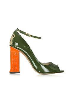 CAMILLA ELPHICK | Pez Classics Africa Туфли-Лодочки Цвета Хаки Из Лакированной Кожи