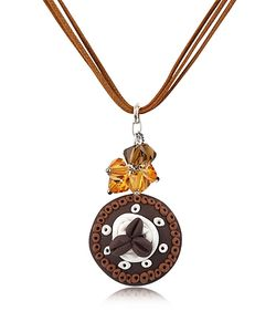 Dolci Gioie | Chocolate Cake Pendant W/Lace