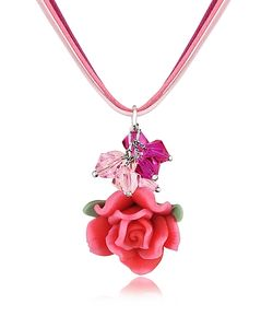 Dolci Gioie | Rose Pendant W/Lace