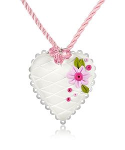 Dolci Gioie | Sterling Silver Heart Cake Necklace