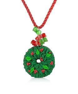 Dolci Gioie | Christmas Wreath Necklace
