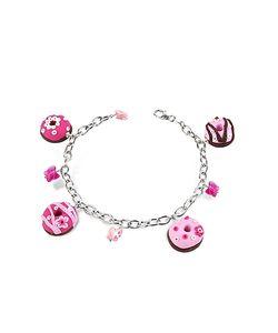 Dolci Gioie   Sterling Donut Charm Bracelet