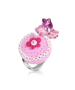 Dolci Gioie | Sterling Silver Cake Charm Ring