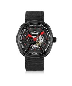 Dietrich | Ot-2 316l Steel Mens Watch W/Red Luminova And Nylon Strap