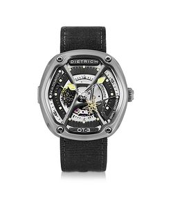 Dietrich | Ot-3 316l Steel Mens Watch W/Yellow Luminova And Nylon Strap