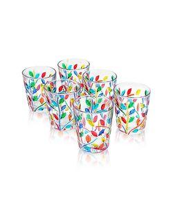 Due Zeta | Sospiri Multicolor Hand Decorated Murano Shot Glass Set Of Six
