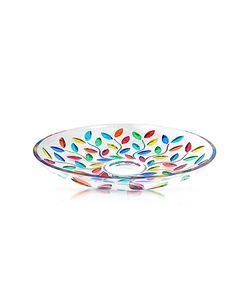 Due Zeta | Doge Hand Decorated Murano Glass Centerpiece Bowl
