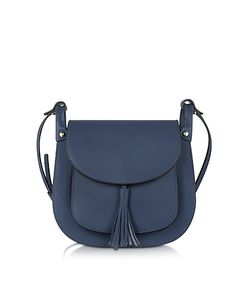 Le Parmentier | Navy Leather Crossbody Bag