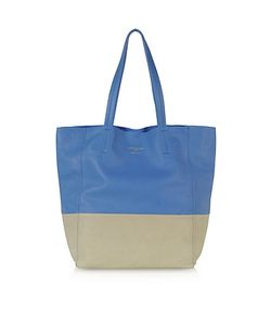 Le Parmentier | Large Color Block Nappa Leather Tote