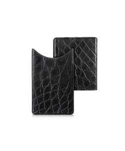 PERONI | Crocodile-Embossed Leather Card Case